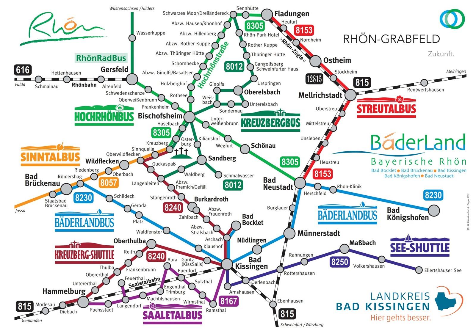 Busliniennetz Rhön