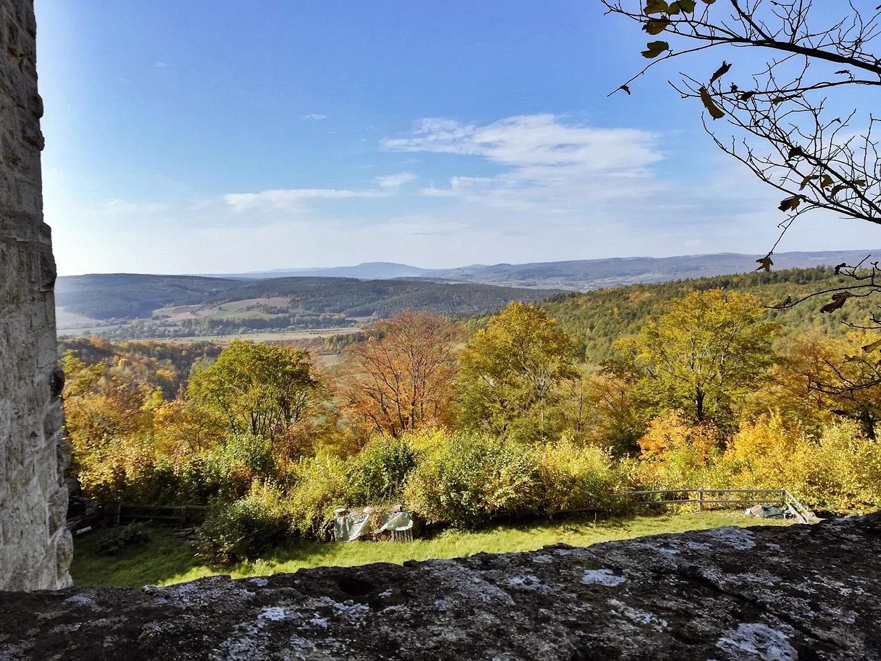 Rhön Ausblick von der Lichtenburg