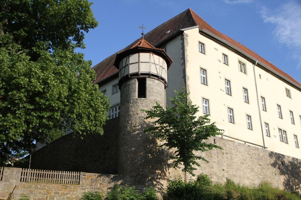 Mellrichstadt mit Stadtmauer und Altes Schloss